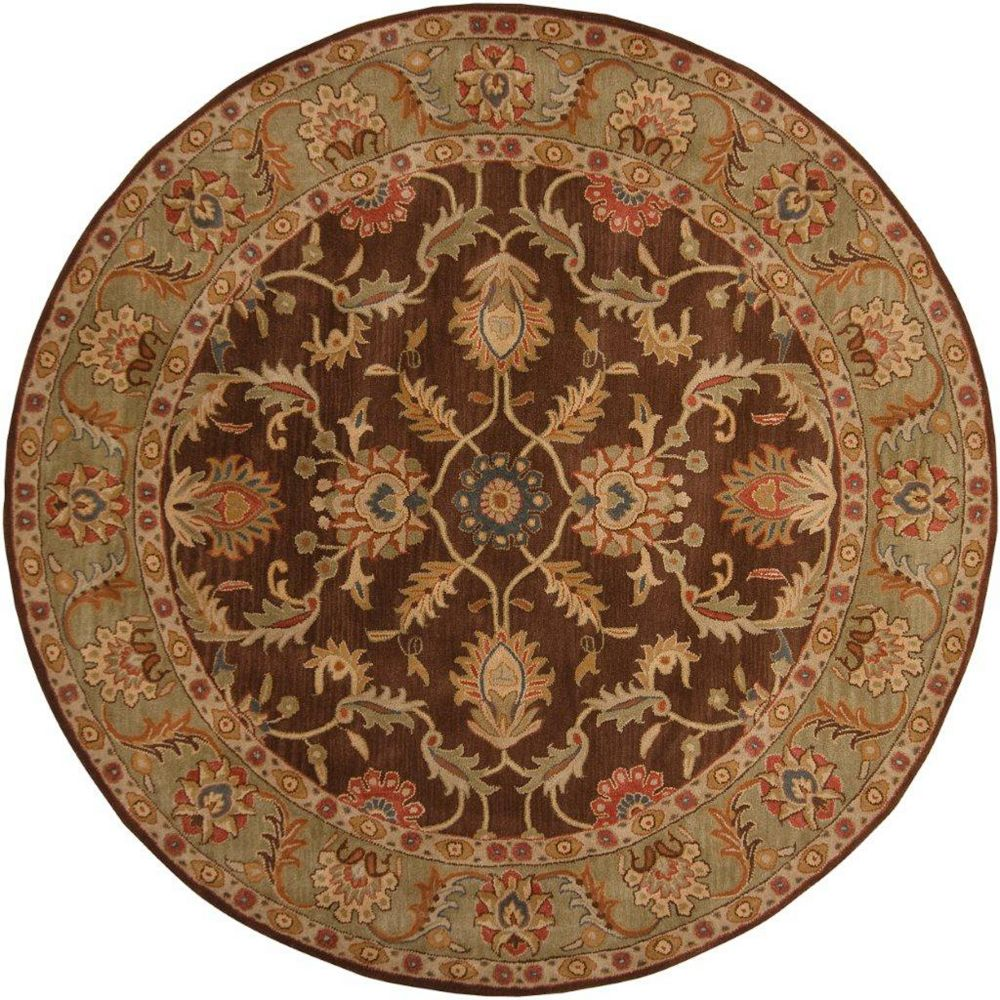 Artistic Weavers Brawley Brown 4 ft. x 4 ft. Indoor Transitional Round Area Rug