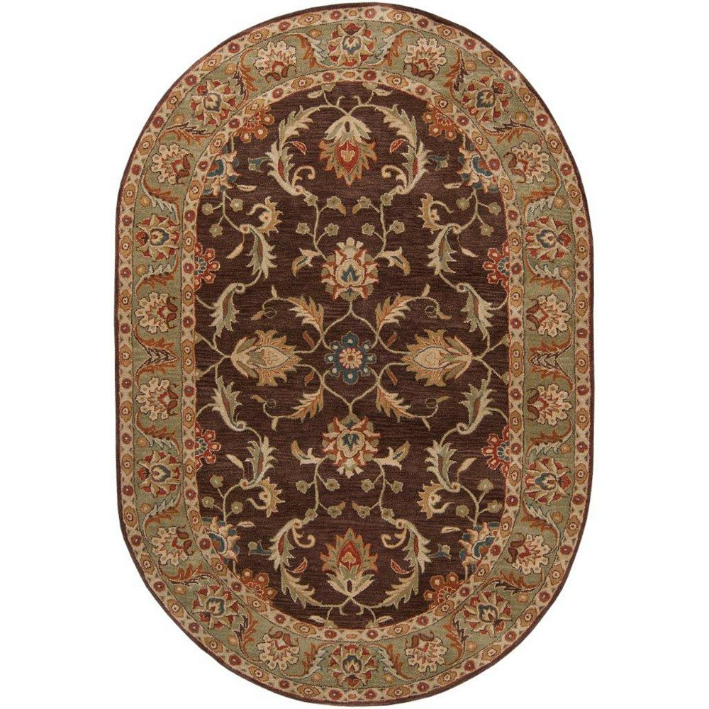 Artistic Weavers Brawley Brown 6 ft. x 9 ft. Indoor Traditional Oval Area Rug