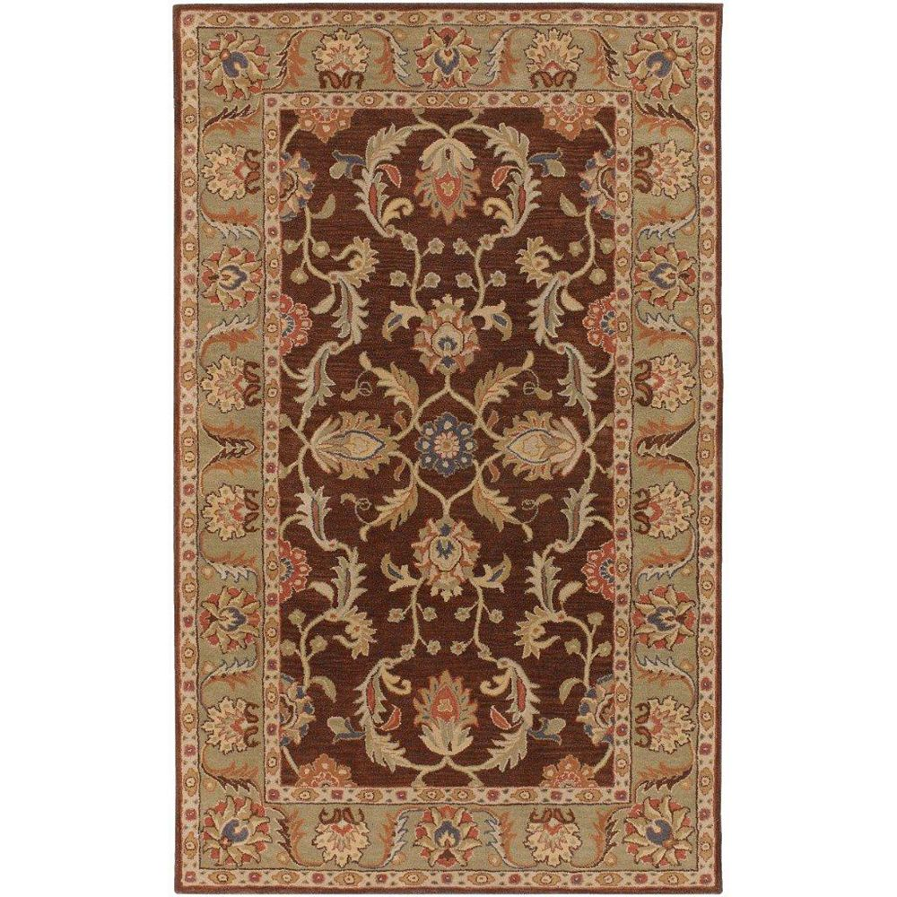 Artistic Weavers Brawley Brown 7 ft. 6-inch x 9 ft. 6-inch Indoor Traditional Rectangular Area Rug