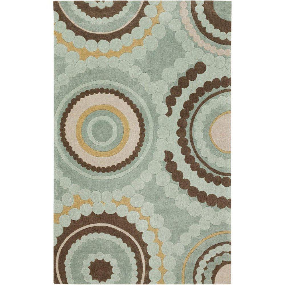 Artistic Weavers Carpette, 2 pi x 3 pi, rectangulaire, vert Magalas
