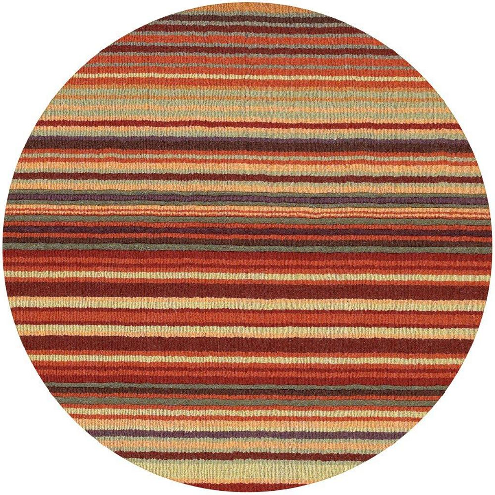 Artistic Weavers Valanjou Red 8 ft. x 8 ft. Indoor Contemporary Round Area Rug