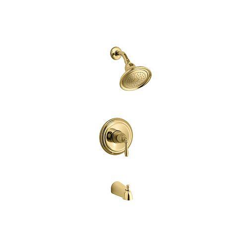 Devonshire Rite-Temp Pressure-Balancing Bath/Shower Faucet with Lever Handle and Slip-Fit Spout