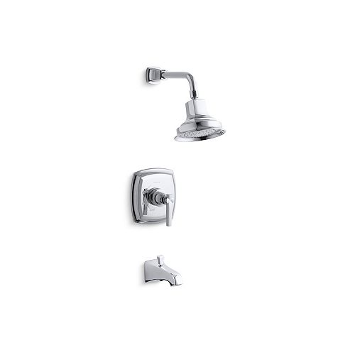 KOHLER Margaux Rite-Temp Pressure-Balancing Bath/Shower Faucet with Lever Handle and Showerhead