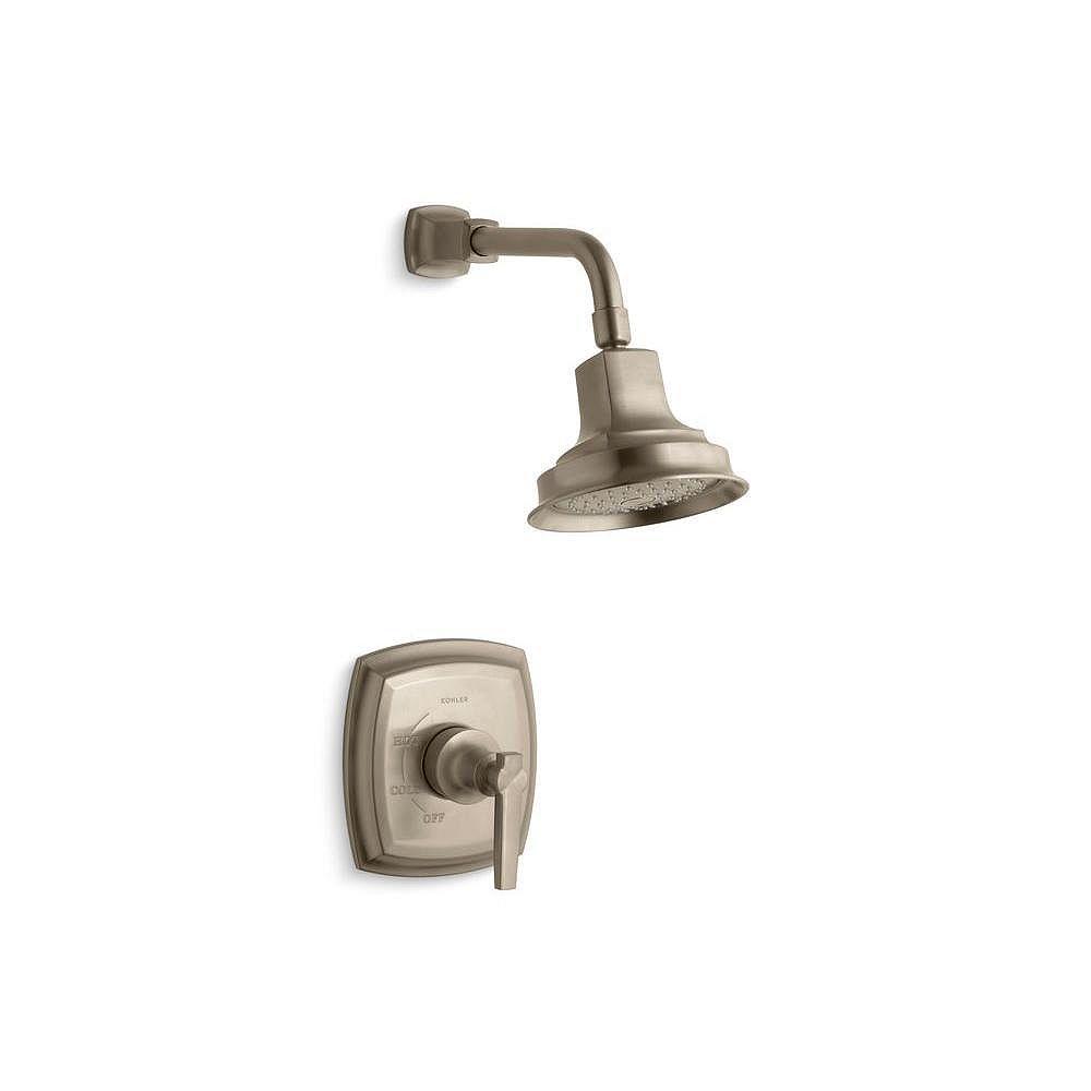 KOHLER Margaux Rite-Temp garniture de robinet de douche à équilibrage de pression avec poignée à levier, vanne non incluse