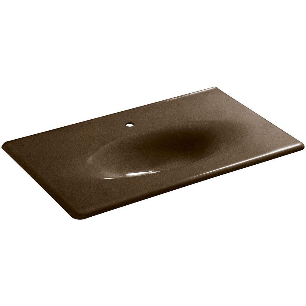 KOHLER Lavabo de meuble-lavabo Iron/Impressions, 37 po, avec trou unique de robinet
