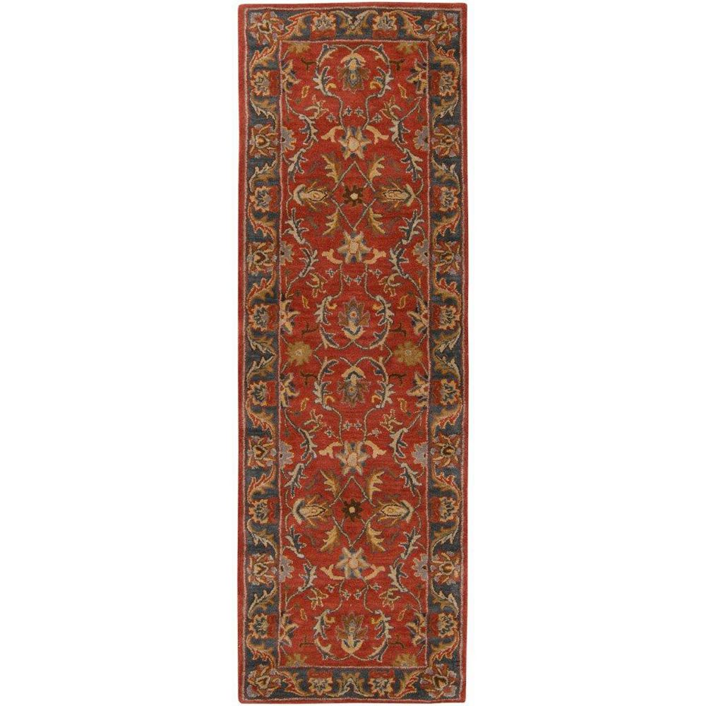 Artistic Weavers Bradbury Red 3 ft. x 12 ft. Indoor Transitional Runner