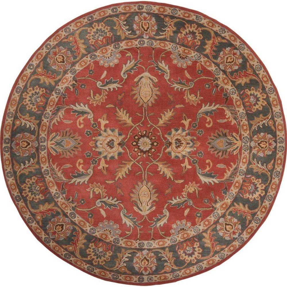 Artistic Weavers Carpette d'intérieur, 4 pi x 4 pi, style transitionnel, ronde, rouge Bradbury