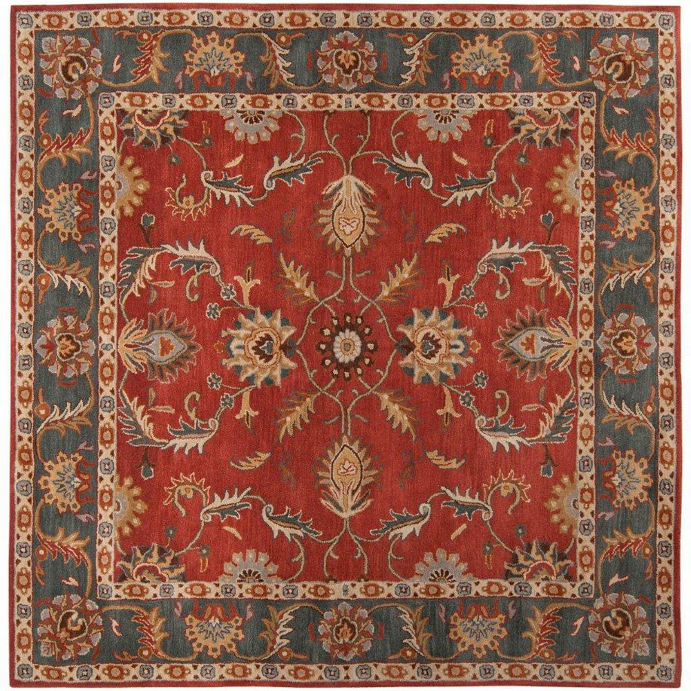 Artistic Weavers Bradbury Red 6 ft. x 6 ft. Indoor Transitional Square Area Rug
