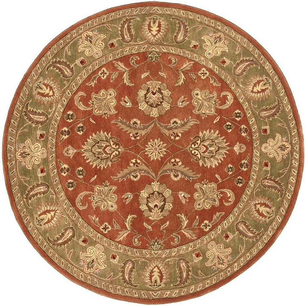 Artistic Weavers Pamier Orange 8 ft. x 8 ft. Indoor Traditional Round Area Rug