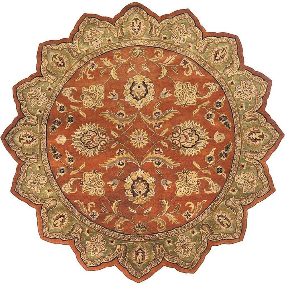 Artistic Weavers Pamier Orange 8 ft. x 8 ft. Indoor Traditional Irregular Area Rug