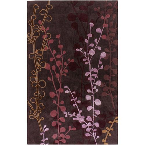 Artistic Weavers Pamproux Purple 3 ft. 6-inch x 5 ft. 6-inch Indoor Transitional Rectangular Area Rug