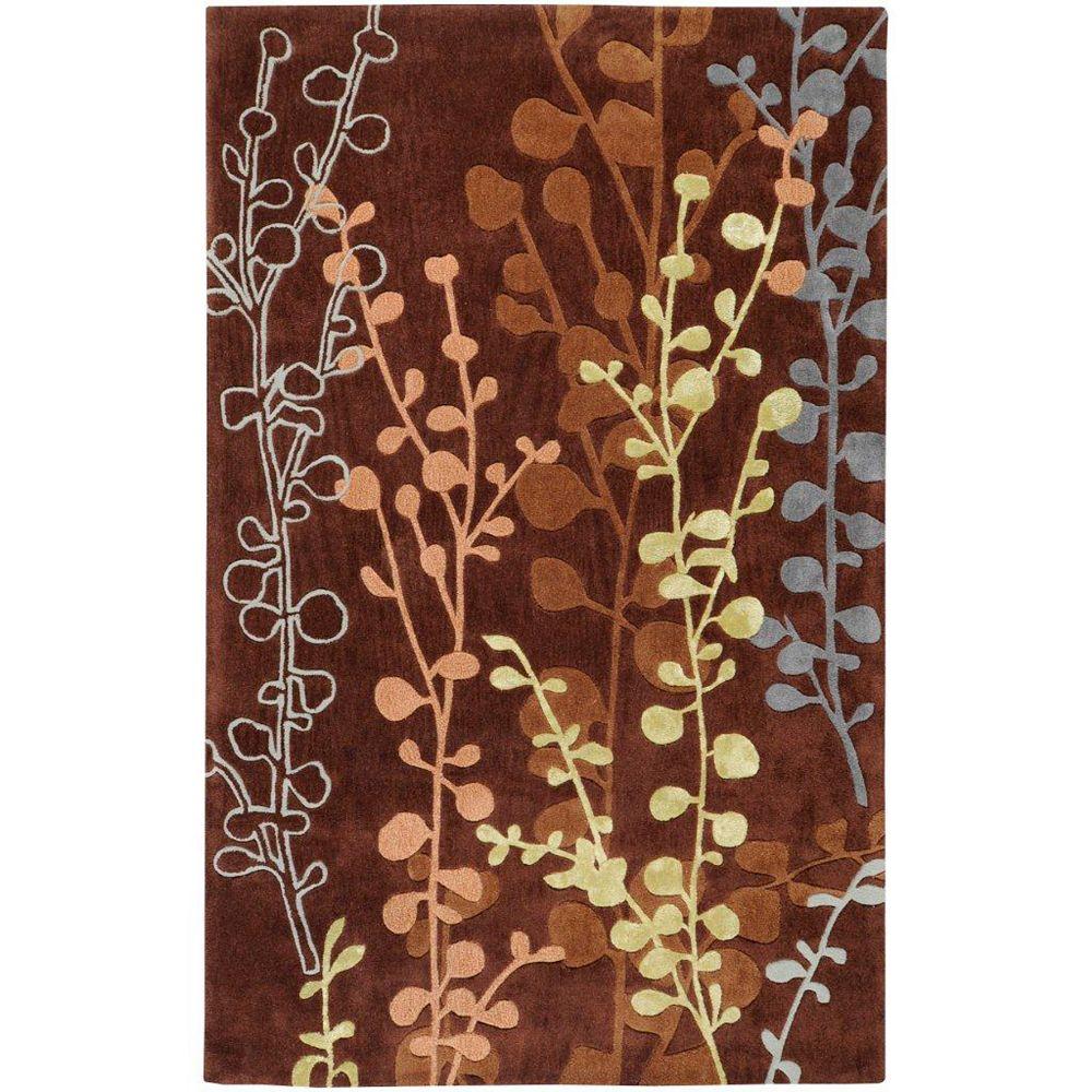 Artistic Weavers Carpette d'intérieur, 5 pi x 8 pi, style transitionnel, rectangulaire, brun Panazol
