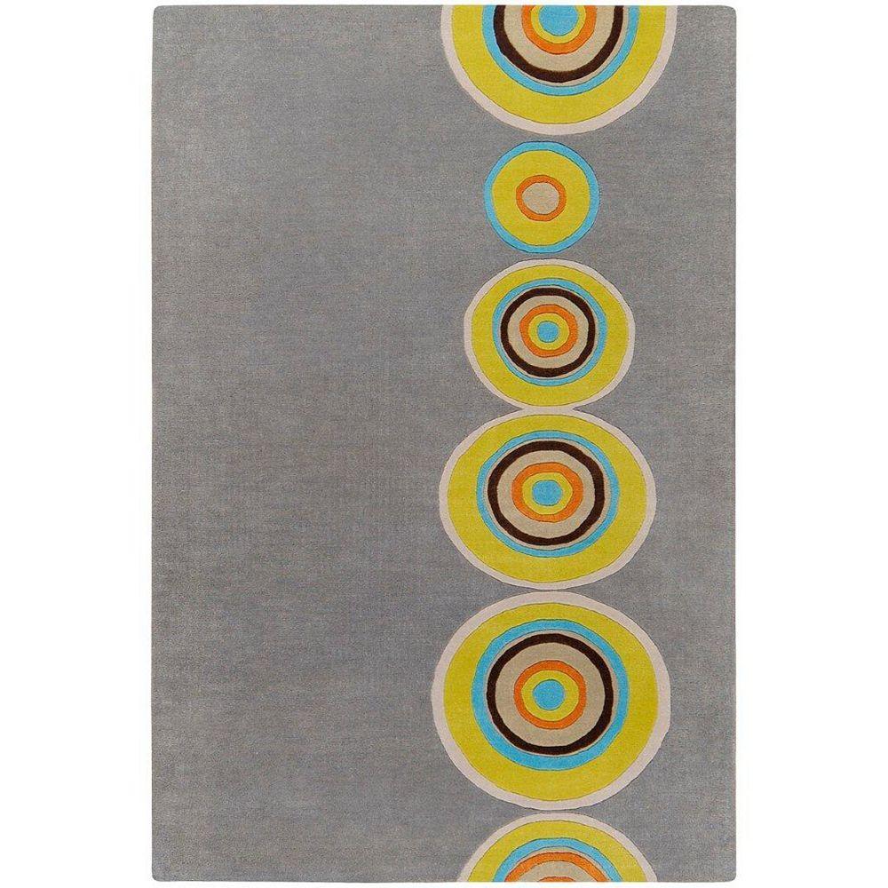 Artistic Weavers Carpette d'intérieur, 5 pi x 8 pi, à poils longs, style contemporain, rectangulaire, gris Pannece