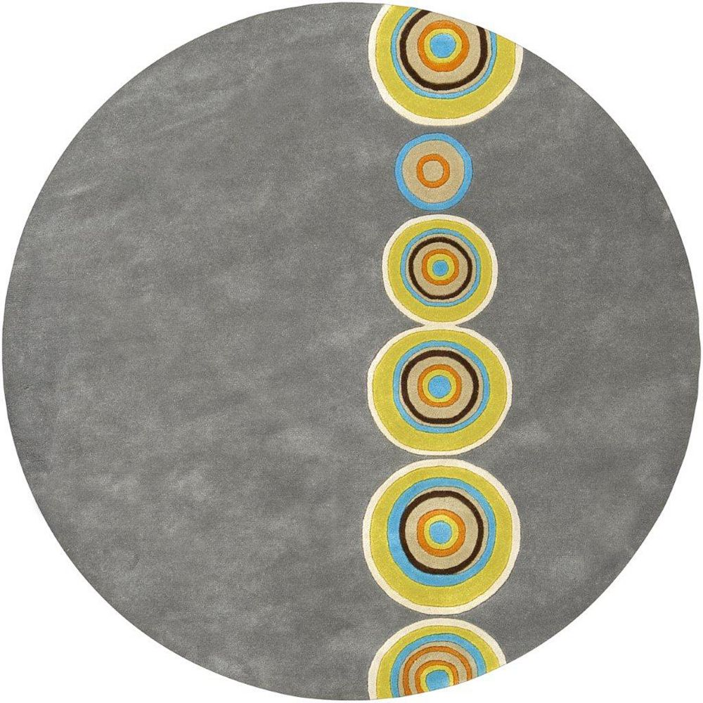 Artistic Weavers Pannece Grey 6 ft. x 6 ft. Indoor Contemporary Round Area Rug