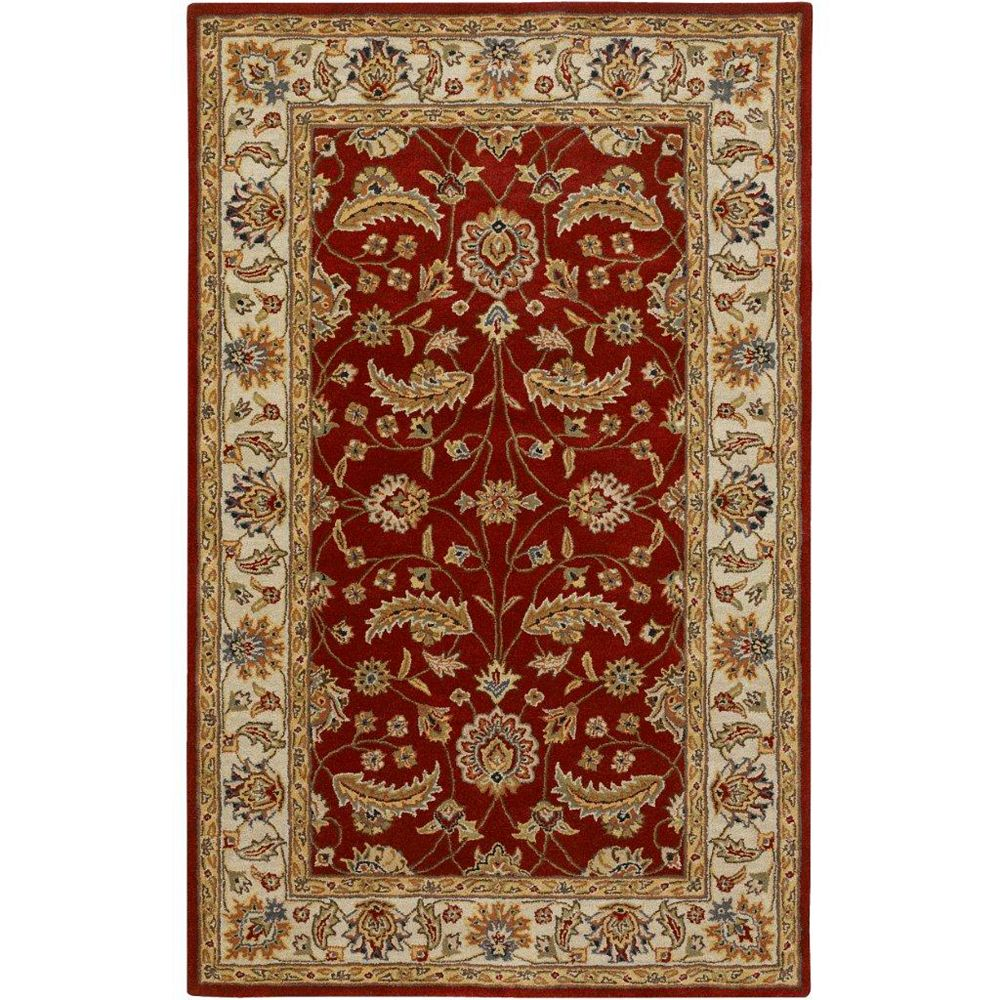 Artistic Weavers Brisbane Red 4 ft. x 6 ft. Indoor Traditional Rectangular Area Rug