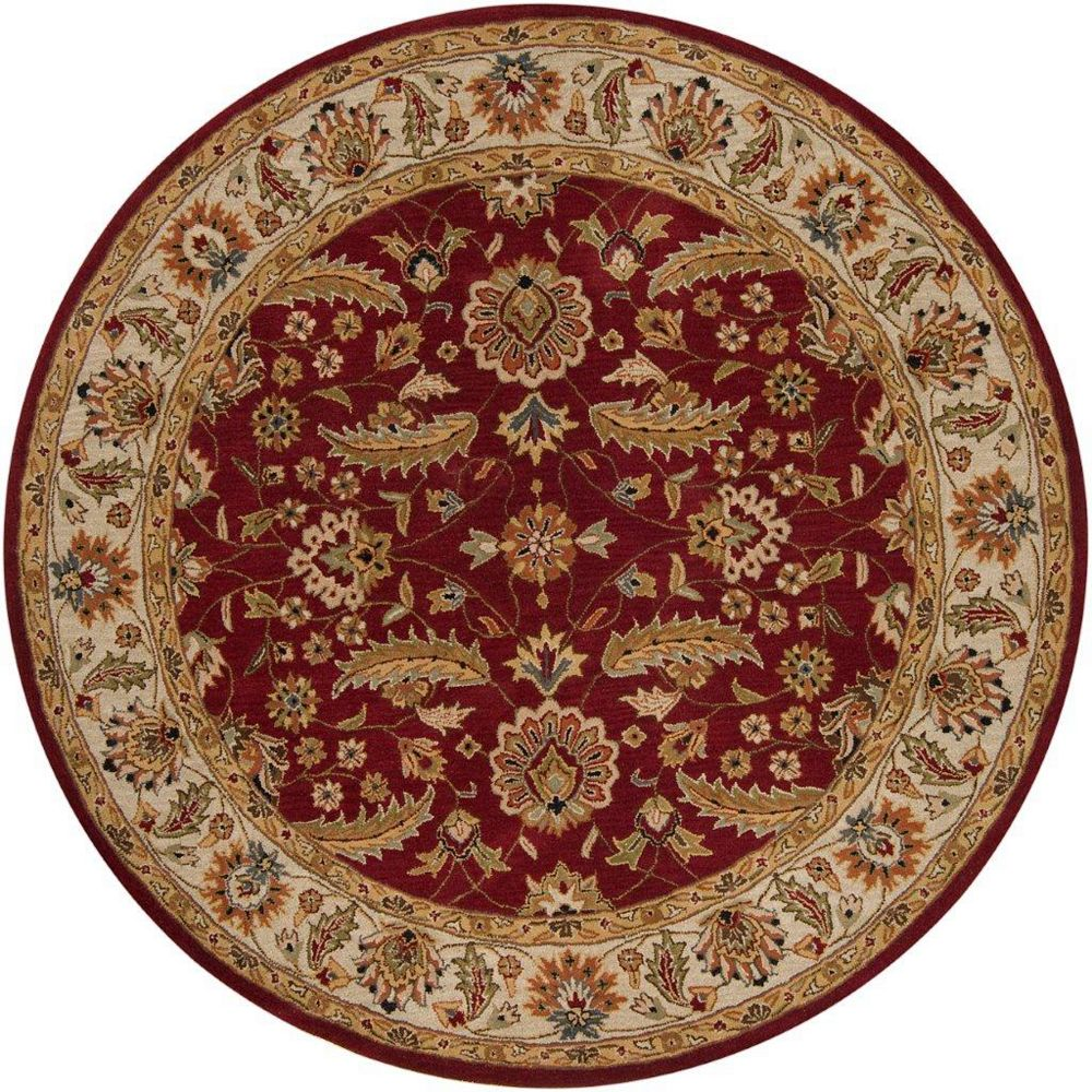 Artistic Weavers Carpette d'intérieur, 4 pi x 4 pi, style traditionnel, ronde, rouge Brisbane