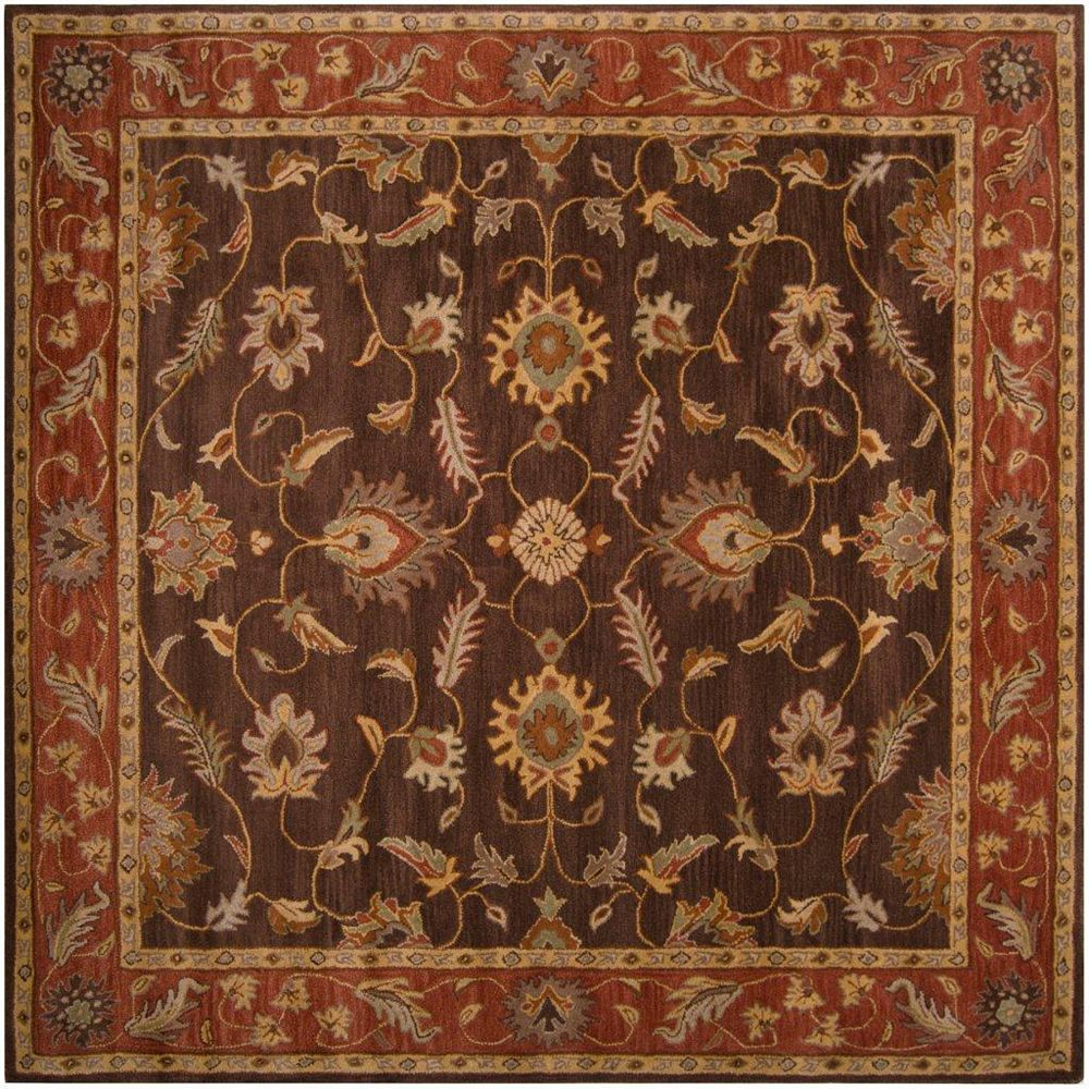 Artistic Weavers Cabris Brown 4 ft. x 4 ft. Indoor Traditional Square Area Rug