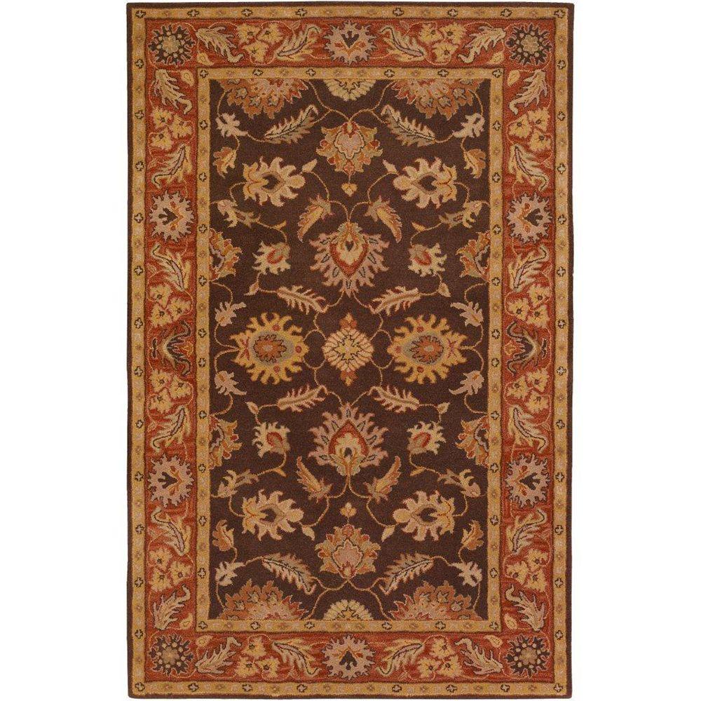 Artistic Weavers Carpette d'intérieur, 6 pi x 9 pi, style traditionnel, rectangulaire, brun Cabris