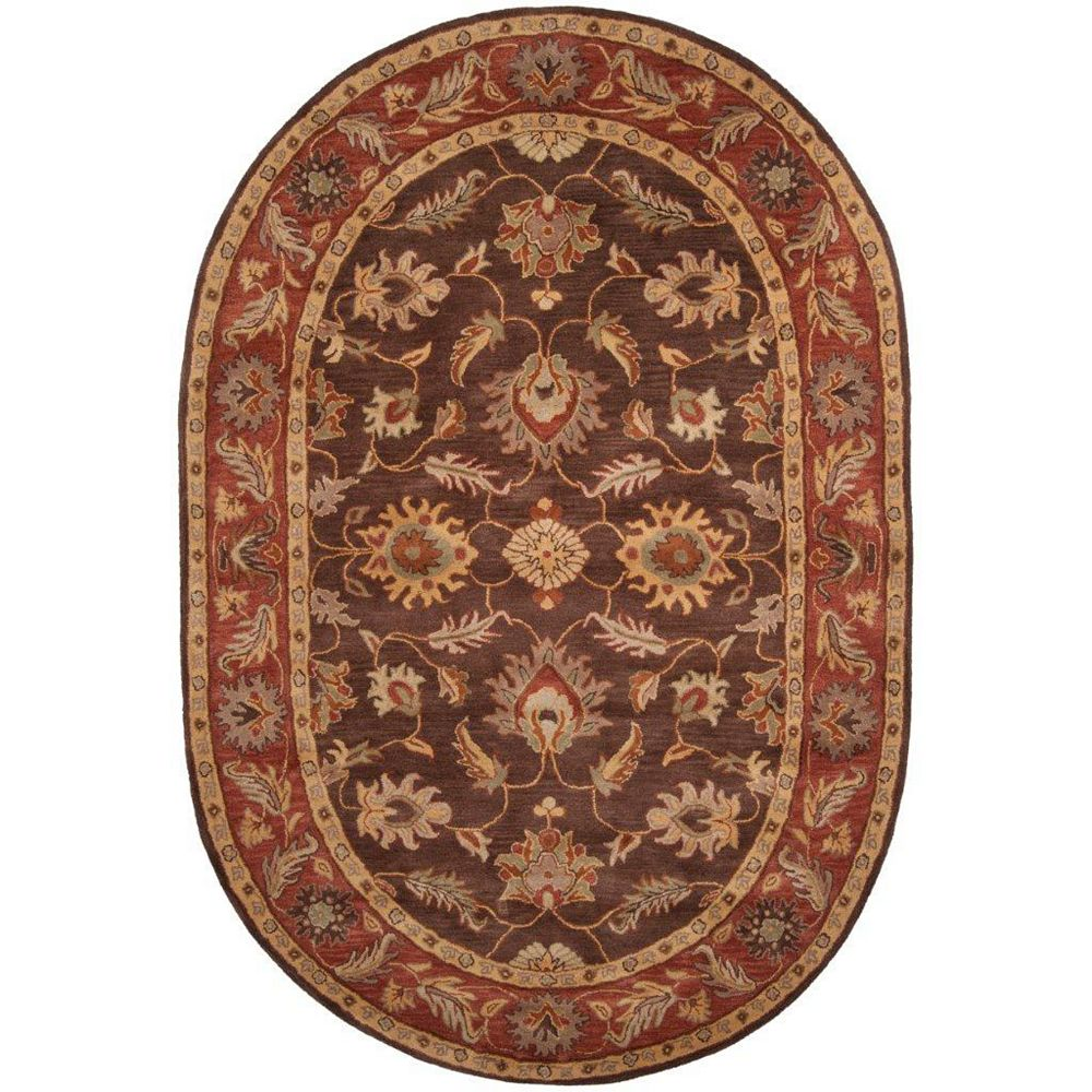 Artistic Weavers Cabris Brown 6 ft. x 9 ft. Indoor Traditional Oval Area Rug