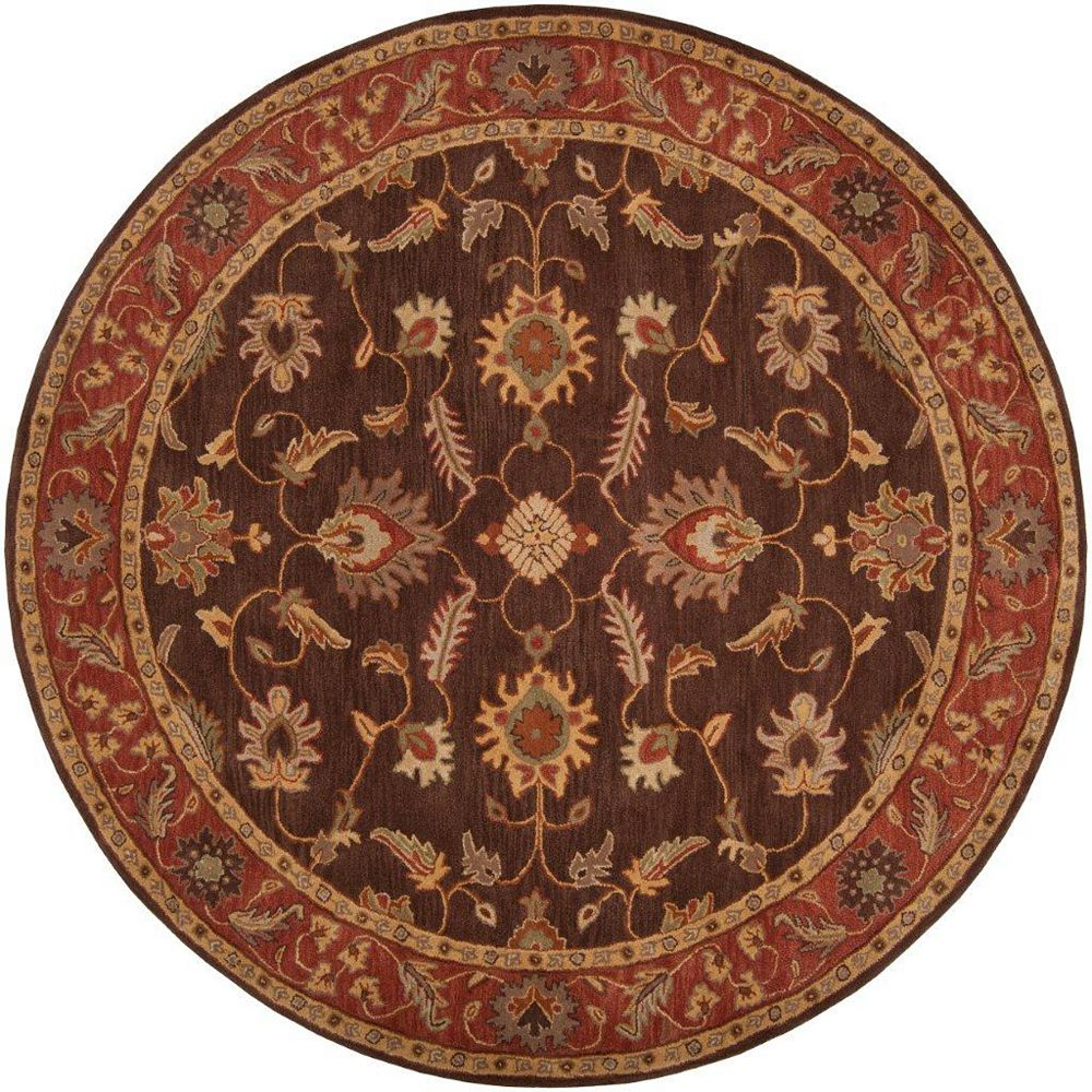 Artistic Weavers Cabris Brown 6 ft. x 6 ft. Indoor Traditional Round Area Rug