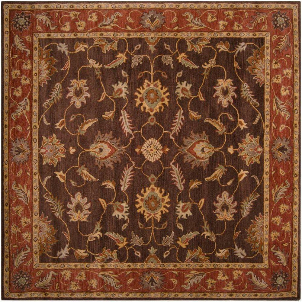 Artistic Weavers Carpette d'intérieur, 6 pi x 6 pi, style traditionnel, carrée, brun Cabris