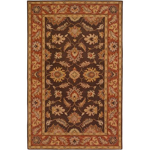 Artistic Weavers Cabris Brown 7 ft. 6-inch x 9 ft. 6-inch Indoor Traditional Rectangular Area Rug