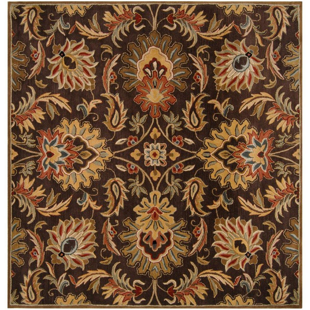 Artistic Weavers Calabasas Brown 6 ft. x 6 ft. Indoor Transitional Square Area Rug