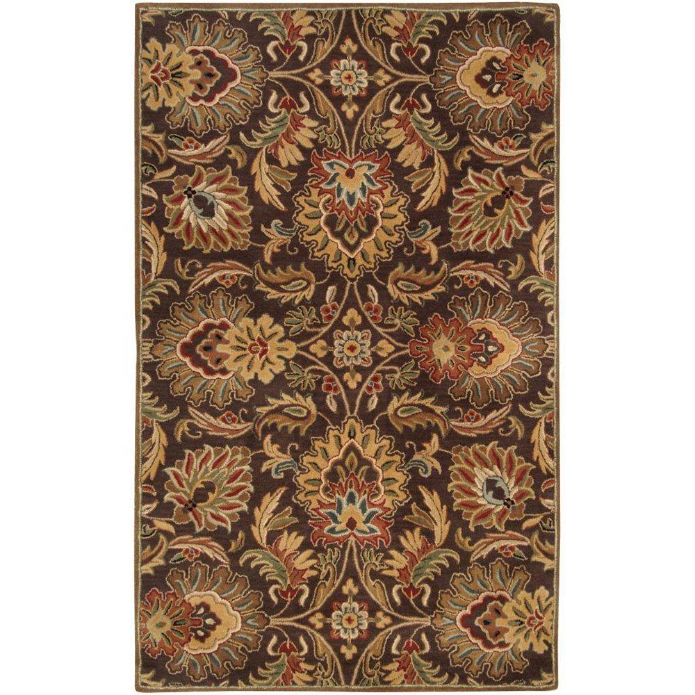 Artistic Weavers Carpette d'intérieur, 8 pi x 11 pi, style traditionnel, rectangulaire, brun Calabasas