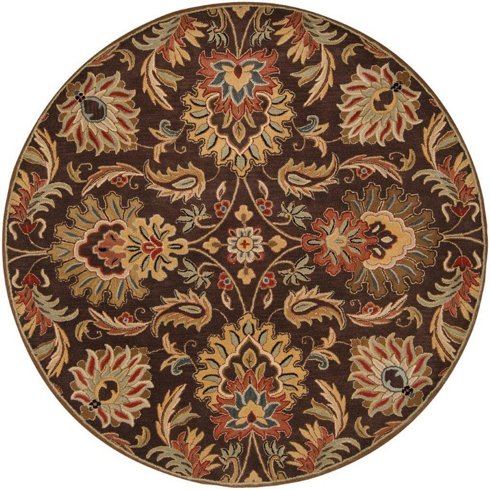 Artistic Weavers Calabasas Brown 8 ft. x 8 ft. Indoor Transitional Round Area Rug