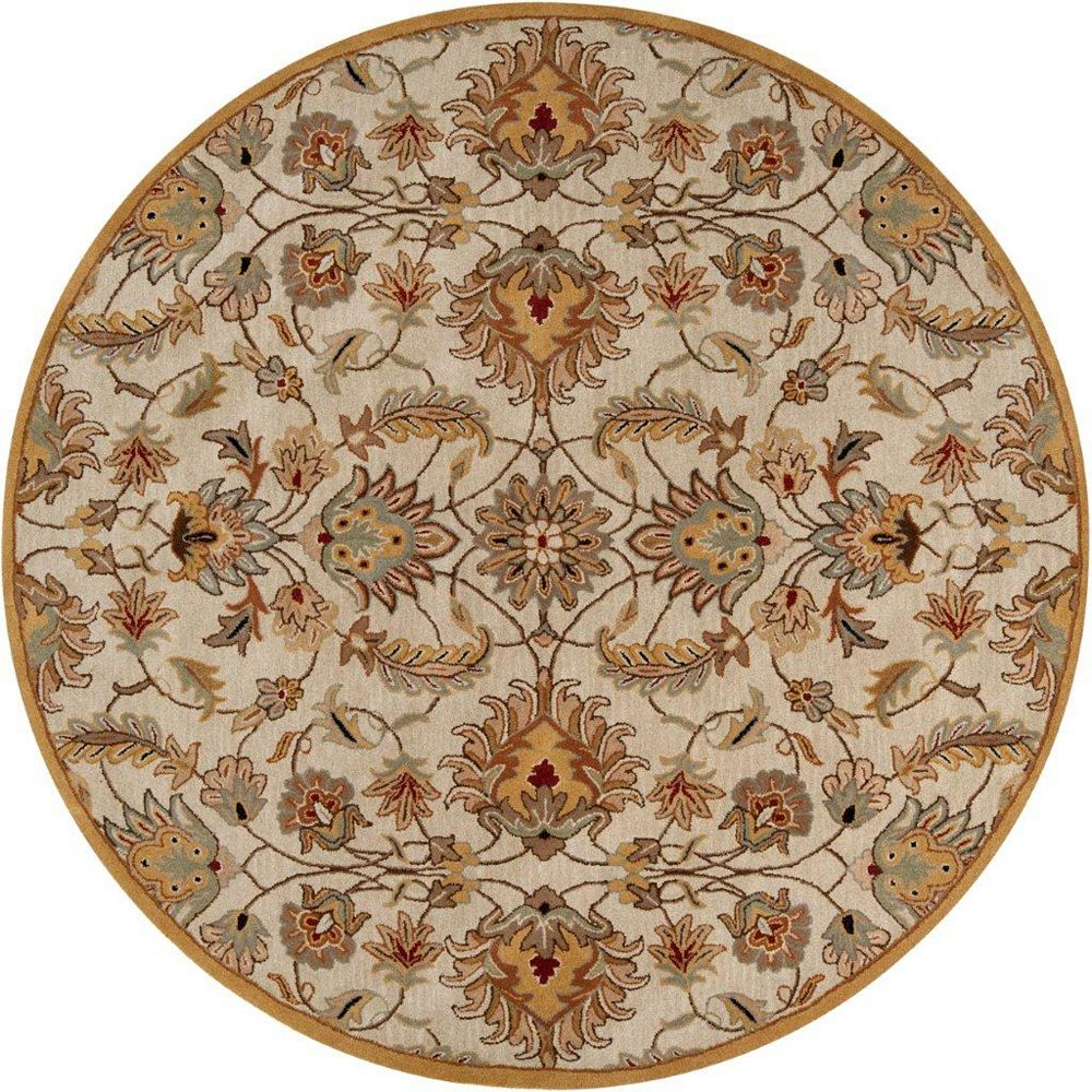 Artistic Weavers Calimesa Beige Tan 4 ft. x 4 ft. Indoor Transitional Round Area Rug