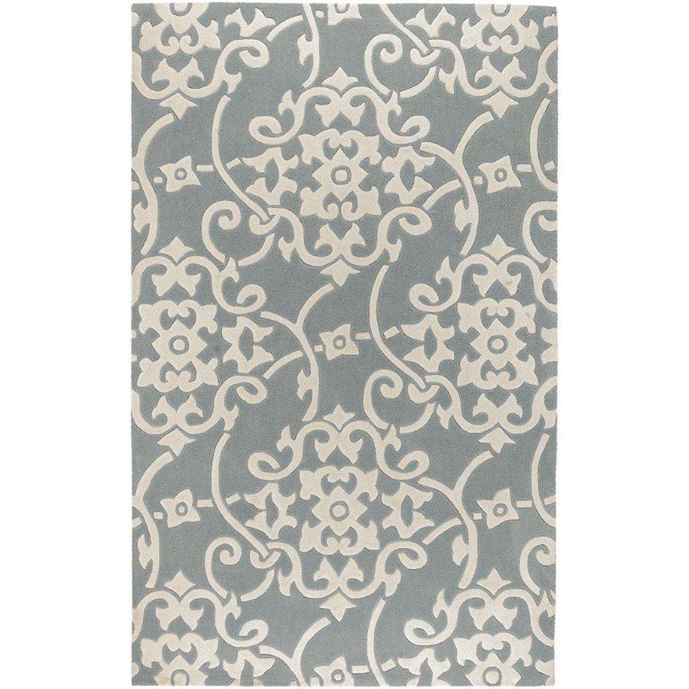 Artistic Weavers Carpette d'intérieur, 5 pi x 8 pi, style transitionnel, rectangulaire, gris Haisnes