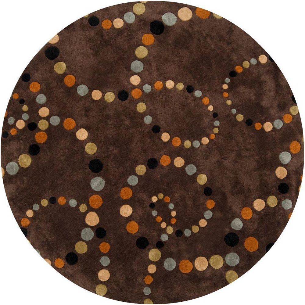 Artistic Weavers Illies Brown 8 ft. x 8 ft. Round Area Rug
