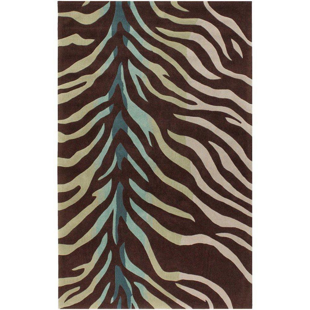 Artistic Weavers Carpette d'intérieur, 2 pi x 3 pi, style transitionnel, rectangulaire, brun Jacou