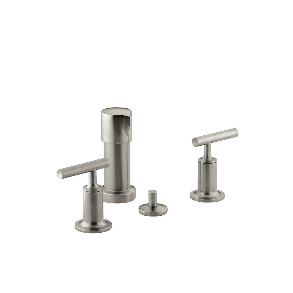 KOHLER Purist Bidet Faucet with Vertical Spray and Lever Handles