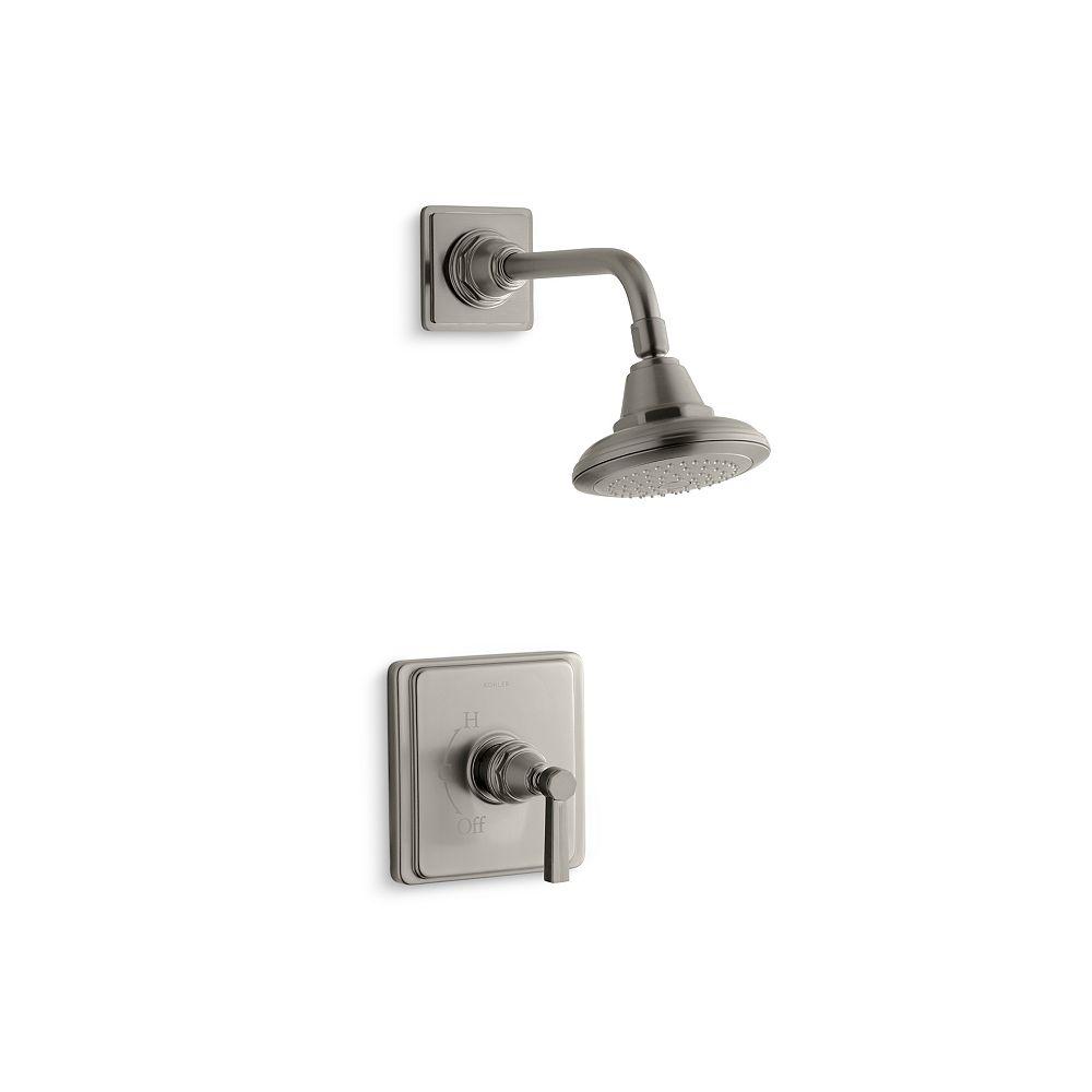 KOHLER Pinstripe Rite-Temp garniture de robinet de douche à équilibrage de pression avec poignée à levier, vanne non incluse