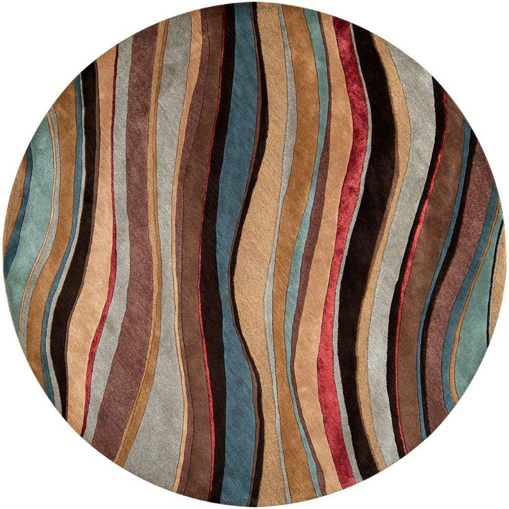 Artistic Weavers Alameda Brown 8 ft. x 8 ft. Indoor Contemporary Round Area Rug