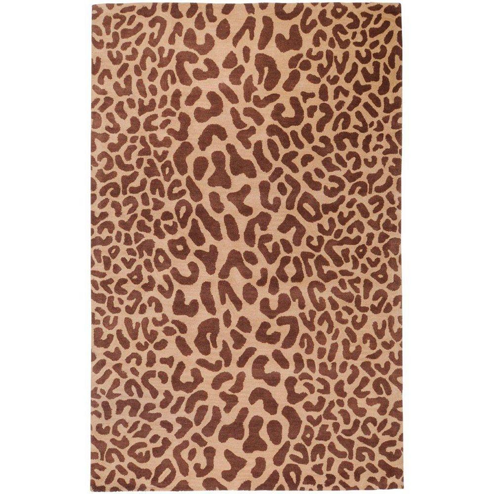 Artistic Weavers Carpette d'intérieur, 6 pi x 9 pi, style transitionnel, rectangulaire, brun Alhambra