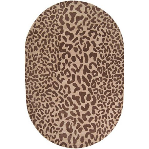 Artistic Weavers Alhambra Brown 6 ft. x 9 ft. Indoor Transitional Oval Area Rug