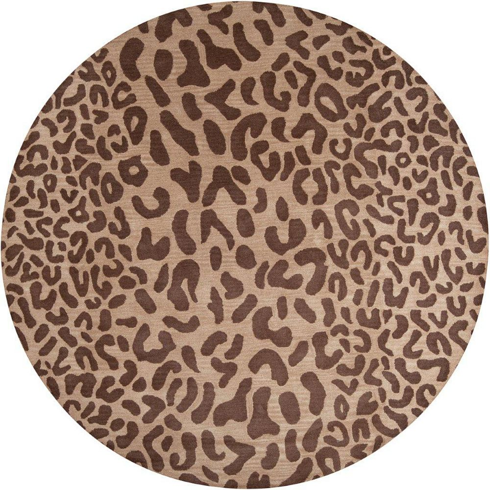 Artistic Weavers Alhambra Brown 6 ft. x 6 ft. Indoor Transitional Round Area Rug