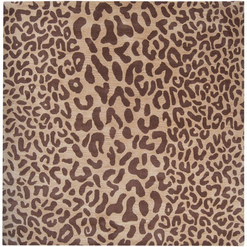 Artistic Weavers Alhambra Brown 6 ft. x 6 ft. Indoor Transitional Square Area Rug
