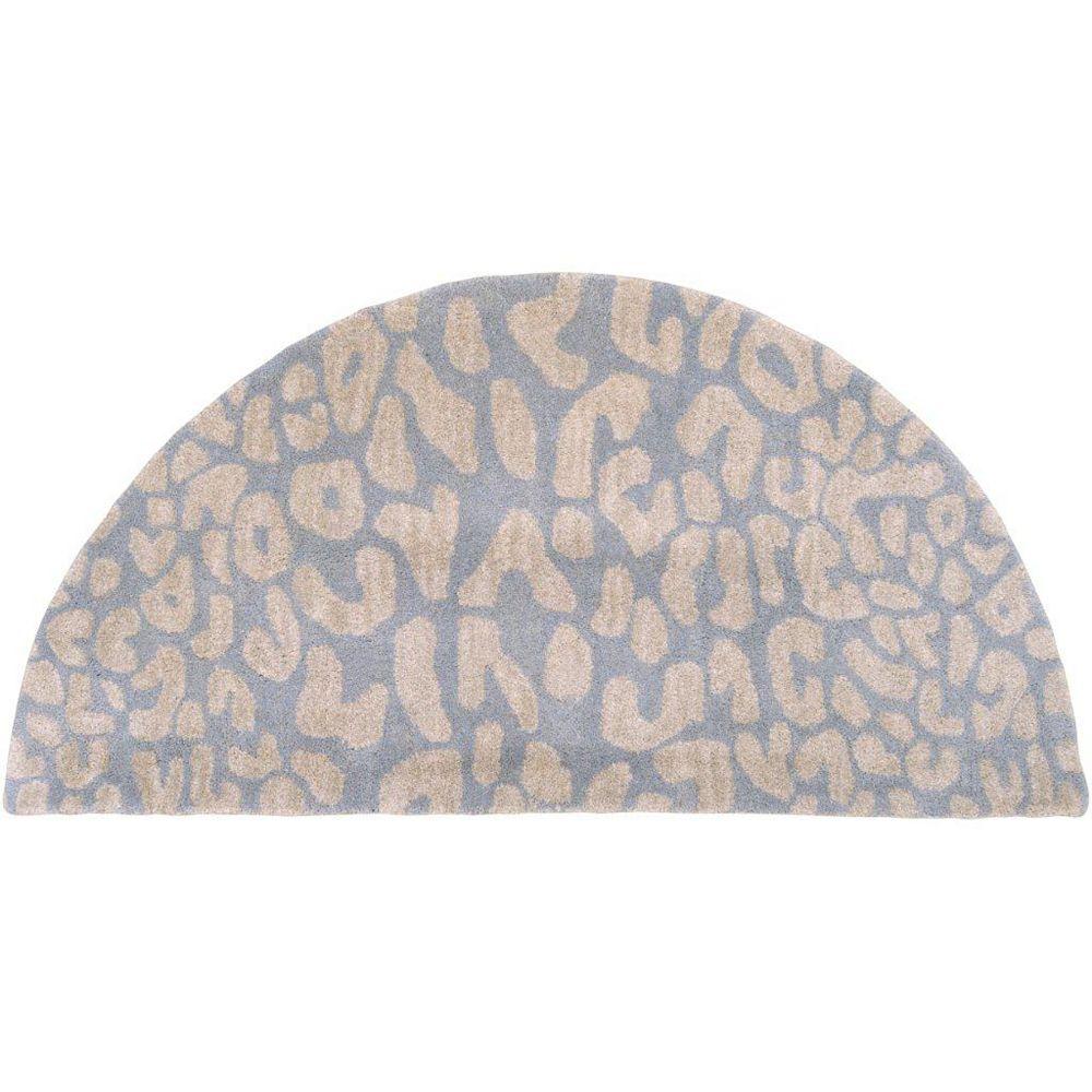 Artistic Weavers Carpette d'appoint d'intérieur, 2 pi x 4 pi, style transitionnel, demi-ronde, bleu Aliso