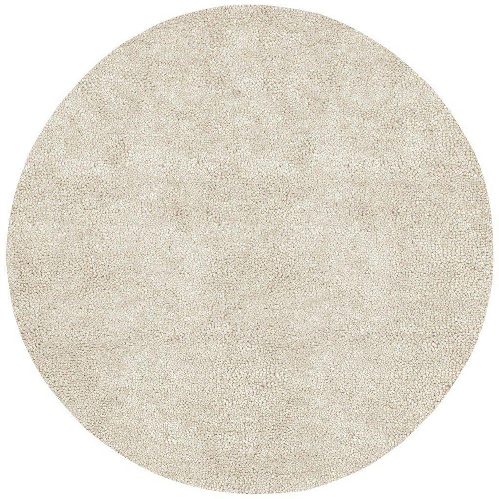 Artistic Weavers Carpette d'intérieur, 10 pi x 10 pi, à poils longs, ronde, blanc cassé Adelanto