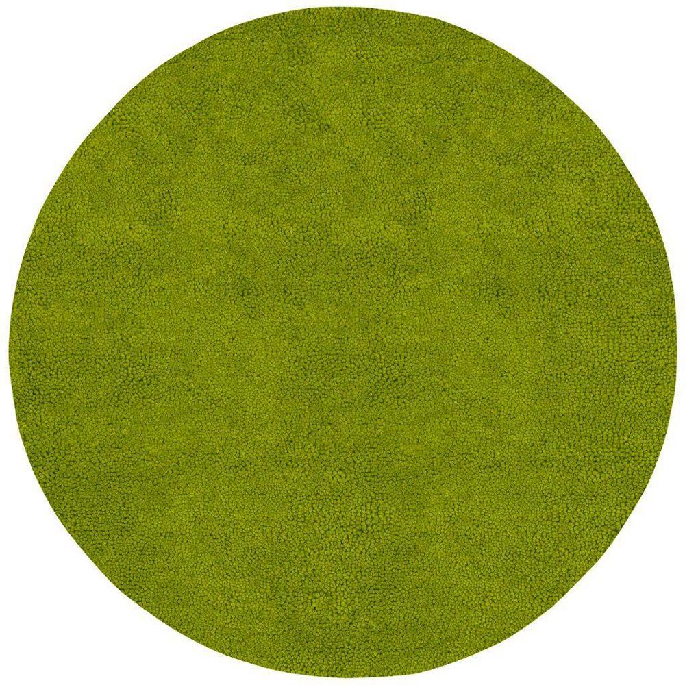 Artistic Weavers Carpette d'intérieur, 10 pi x 10 pi,i, à poils longs, ronde, vert Agoura