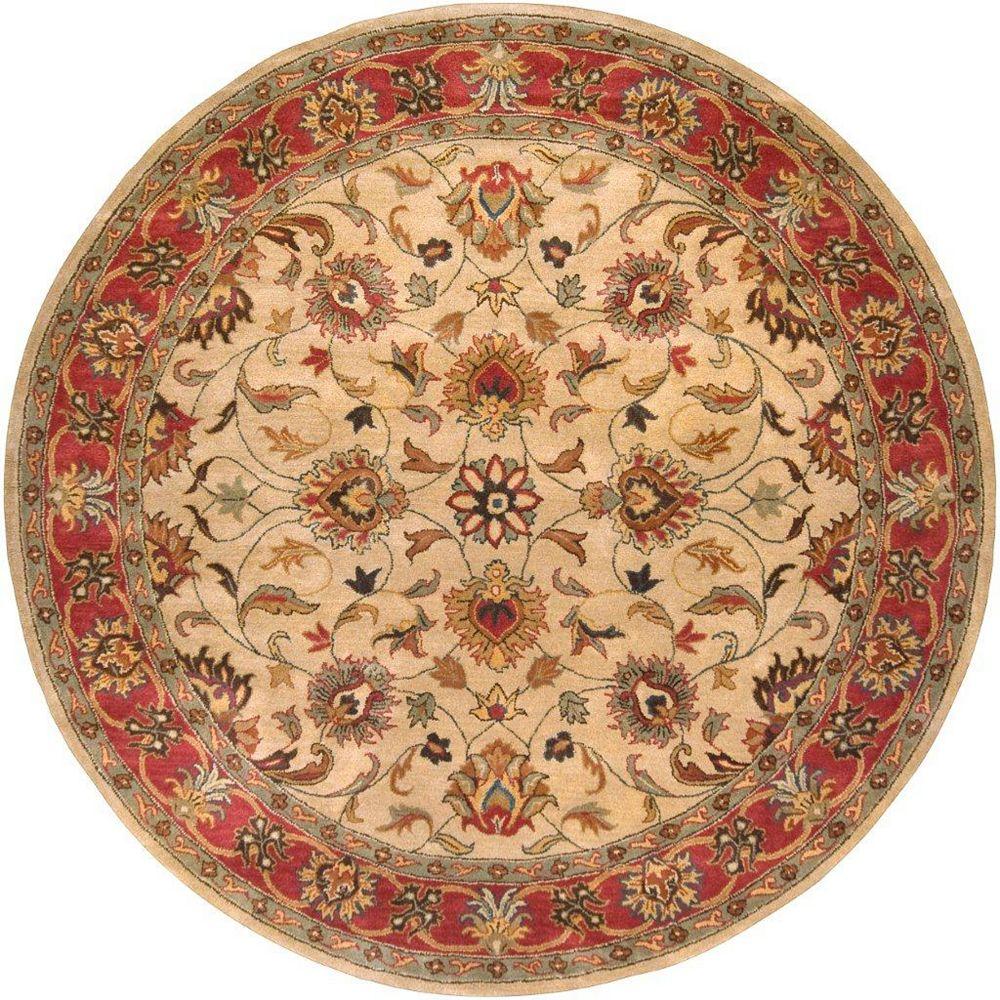 Artistic Weavers Belmont Beige Tan 4 ft. x 4 ft. Indoor Transitional Round Area Rug