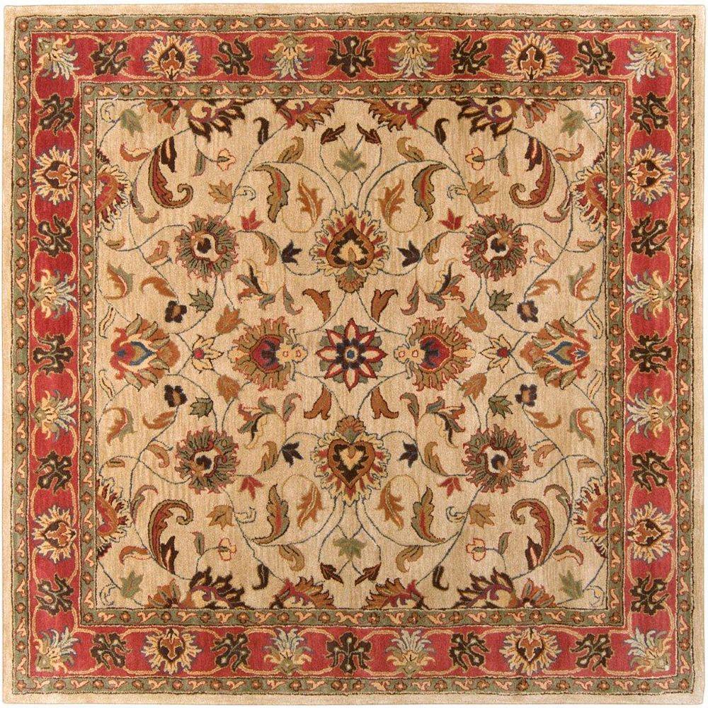 Artistic Weavers Belmont Beige Tan 6 ft. x 6 ft. Indoor Traditional Square Area Rug