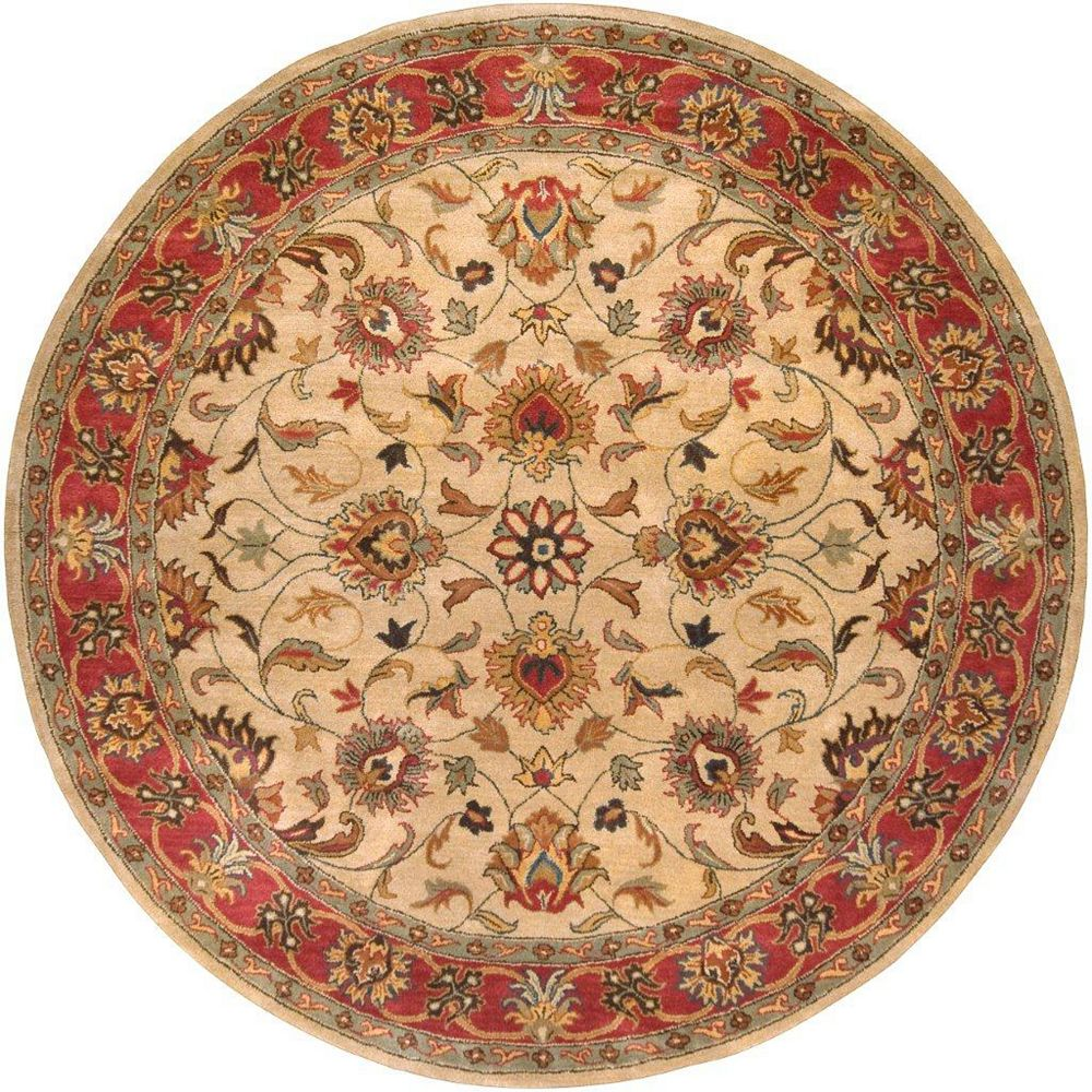 Artistic Weavers Belmont Beige Tan 8 ft. x 8 ft. Indoor Transitional Round Area Rug