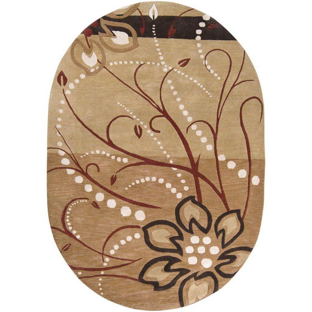 Artistic Weavers Carpette d'intérieur, 8 pi x 10 pi, style transitionnel, ovale, brun Amador