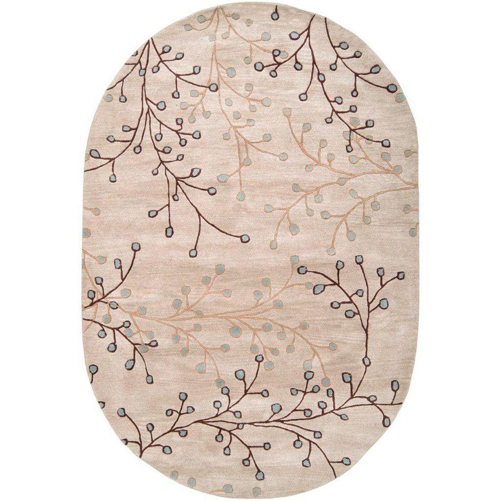 Artistic Weavers Carpette d'intérieur, 6 pi x 9 pi, style transitionnel, ovale, havane Anaheim