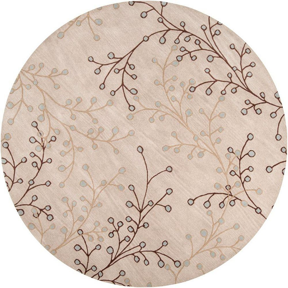 Artistic Weavers Anaheim Beige Tan 9 ft. 9-inch x 9 ft. 9-inch Indoor Transitional Round Area Rug
