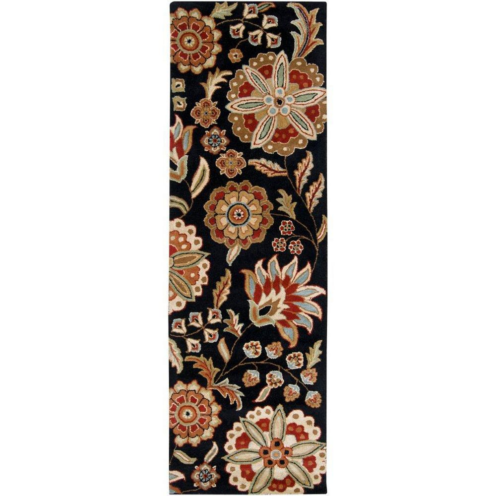 Artistic Weavers Anderson Black 2 ft. 6-inch x 8 ft. Indoor Transitional Runner